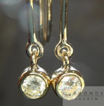 SOLD.....Diamond Earrings: .48ctw Round Brilliant W-X VS1 Diamond Dangle Earrings in 18K R4363