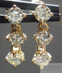 SOLD.....Diamond Earrings: 1.14ct total weight O-P Round Brilliant Dangle Diamond Earrings R4360