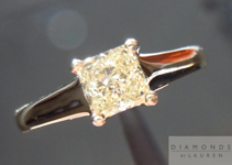 SOLD....Diamond Ring: .52ct Princess Cut Y-Z VS1 14K Underwire Solitaire Ring R4403