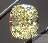 Loose Yellow Diamond: 4.13ct Cushion Cut Fancy Yellow SI1 GIA Wonderful Cut R4424