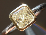 SOLD...Diamond Ring: .78ct Radiant Cut L VS2 GIA Bezel Set Trade In Special R4429