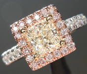 0.78ct L VVS2 Princess Cut Diamond Ring R4430