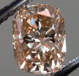 SOLD.....Loose Diamond: 1.02ct Cushion Cut Fancy Yellowish Brown VS1 GIA Hint of Pink? R4425