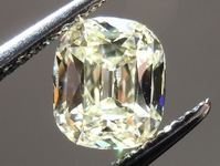 SOLD.....Loose Yellow Diamond: 1.34ct SI1 W-X Natural Light Yellow Branded Diamonds by Lauren Antique Style Cushion R4447