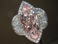 Pink Diamond Ring: 3.09ct Fancy Pink VS2 Marquise Diamond- GIA R4464
