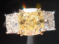 SOLD... 2.80ct Fancy Light Yellow Cushion Cut Diamond Ring GIA R4314