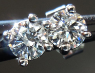 SOLD....Diamond Earrings: .35ctw G-VS2 Four Prong Studs Great Sparkle R4357