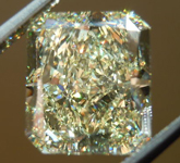 Yellow Radiant Cut Diamond:4.06ct Fancy Light Yellow VS1 GIA Excellent Symmetry and Polish R4490