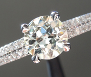 Vintage Diamond Ring: .85ct K/SI1 Old European Cut GIA Double Row Pave Band R4479