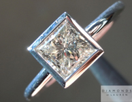 Princess Cut Diamond Ring: .78ct J I1 Princess Cut Diamond Ring GIA R4484
