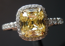 SOLD....Halo Antique Diamond Ring: 1.45 DBL Branded Antique Cushion Diamond in Uber Halo R4068