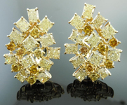 SOLD....Yellow, Orange and Brown Diamond Earrings: 8.83ctw Fancy Brown Orange Yellow Assorted Cluster Earrings R3824