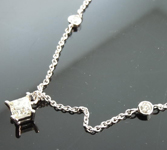 Princess Cut Diamond Necklace: .37ct M/VS Princess Cut Diamonds by the Yard R2489