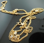 Diamond Necklace: 2.69ct Rich Yellow Gold Necklace Bezel Set Diamonds R4394