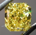 SOLD....Vivid Yellow Diamond: 1.21ct Fancy Vivid Yellow Radiant Diamond GIA Pure Color R4487