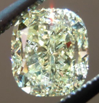 SOLD.....Yellow Cushion Cut Diamond: 1.01ct Fancy Light Yellow VVS1 Cushion Cut GIA Amazing Sparkle R4525