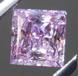SOLD... Purple Princess Cut Diamond: .52ct Fancy Intense Pink-Purple Princess Cut GIA Amazing Color R4541