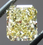 Yellow Radiant Cut Diamond: .92ct Fancy Yellow I1 Radiant Cut GIA Great Cut R4518