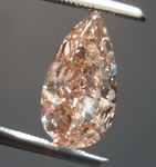 Pink Pear Diamond: 2.01ct Fancy Brownish Orangy Pink Diamond R4546
