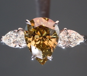 SOLD.....Chameleon Diamond Ring: 1.28ct Fancy Dark Grey-Greenish Yellow COLOR CHANGE GIA R4577