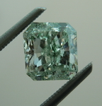 Green Diamond: 1.45ct Natural Fancy Grayish Green Radiant Diamond R4581