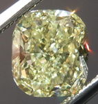 SOLD....Yellow Cushion Cut Diamond: 1.42ct Fancy Light Yellow VS1 Cushion Cut GIA Beautiful Cut R4600