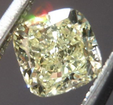SOLD....Yellow Cushion Cut Diamond: .46ct Fancy Light Yellow VS2 Cushion Cut Great Cut R4608