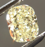 Yellow Cushion Cut Diamond: .59ct Fancy Light Yellow VS2 Cushion Modified Brilliant Fantastic Sparkle R4611