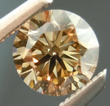 SOLD....Orange Brown Diamond: .46ct Fancy Orange Brown VS2 Round Brilliant Lively Stone R4617