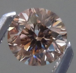 SOLD....Orangy Brown Diamond: .37ct Fancy Deep Orangy Brown VS2 Round Brilliant Cool Color R4620