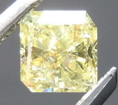 SOLD.....Yellow Radiant Cut Diamond: .45ct Fancy Intense Yellow I1 Radiant Cut Bargain Beauty R4623