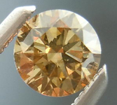 SOLD....Yellow Brown Diamond: .41ct Fancy Yellow Brown VS2 Round Brilliant Coppery Color R4619