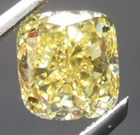 SOLD......Yellow Cushion Diamond: 1.00ct Fancy Intense Yellow VVS1 Cushion Cut GIA Vibrant Color R4629