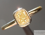 0.51ct Light Yellow SI2 Cushion Cut Diamond Ring R4644