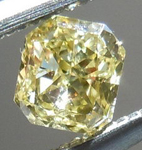 SOLD....Intense Yellow Diamond: .23ct Fancy Intense Yellow I1 Radiant Cut Vibrant Color R4642