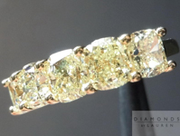 SOLD.....Yellow Diamond Ring: 2.76cts Y-Z Cushion Cut Five Stone Wedding Band R4544