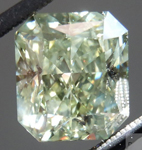 Natural Green Diamond: 3.52ct Fancy Grayish Yellowish Green Radiant Cut GIA R4580