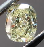 SOLD....Yellow Cushion cut Diamond: .45ct Fancy Yellow VS1 Cushion Cut Lovely Cut R4673