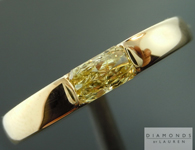 SOLD.... Yellow Diamond Ring: .44ct Fancy Yellow SI2 Radiant Cut GIA Gent's Ring R4653