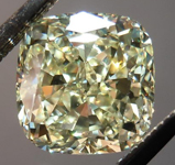SOLD...Yellow Cushion Diamond: 1.64ct Y-Z, Natural Light Yellow VVS2 Cushion Cut GIA Gorgeous Cut R4694