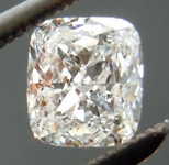 SOLD....Colorless Diamond: .52ct D/VS1 Cushion Cut GIA Tremendous Sparkle Laser Inscribed R4691