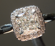 Cushion Diamond Ring: .81ct G VS2 Cushion Modified Brilliant GIA Hand Forged Halo R4692