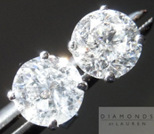 "SOLD.....Colorless Diamond Earrings: 2.02cts F-G/I1 Round Brilliant ""Promotional"" Diamond Studs R4683"