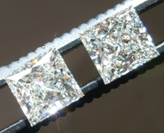 SOLD....Princess Cut Earrings: 2.28cts K/VVS Princess Cut GIA Gorgeous Stones R4740