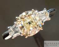 SOLD.......Yellow Old Mine Diamond: 1.07ct W-X/VVS2 Branded DBL Modern Antique Diamond GIA R4769