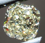 SOLD....Loose Cushion Cut Diamond: 1.66ct Fancy Light Yellow VS1 Cushion Cut GIA Great Sparkle R4752