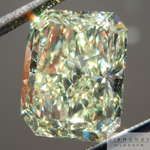 SOLD....Loose Yellow Diamond: 4.32ct Fancy Light Yellow SI1 Radiant Cut GIA Fantastic Cut R4780
