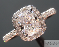"Colorless Diamond Ring: 1.15ct D/VS2 Cushion Cut GIA ""Uber"" Halo R4753"