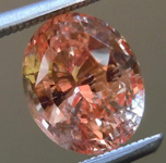 SOLD....Padparascha Sapphire: 2.35ct Orangy-Pink Oval Shape Unheated Padparascha GRS Report R4711