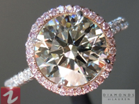 SOLD....Crafted by Infinity Round Brilliant Diamond 2.00ct M/VS2 AGSL Pink Diamond Halo Ring R4578